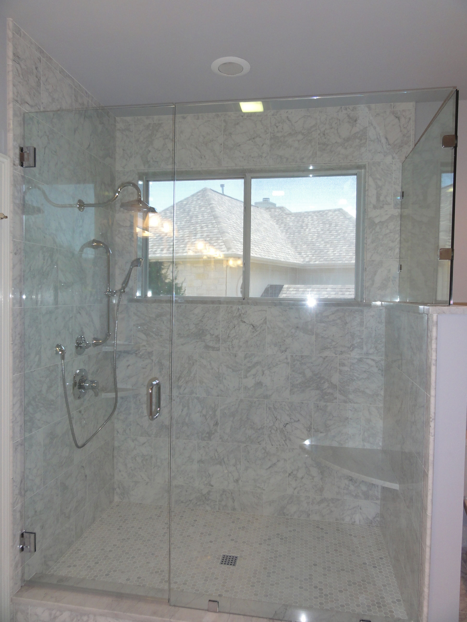 white carrara bathroom westlake bathroom remodel completion tx mhm 15125