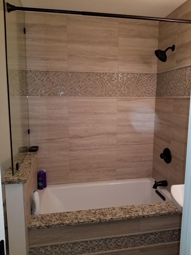 Mr. & Mrs. Hartley hall bathroom remodel