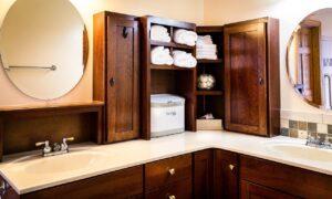 mixed materials bathroom austin